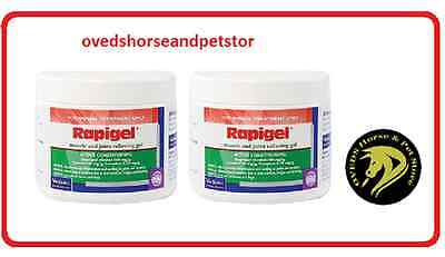 RAPIGEL Muscle & Joint Relieving Gel 250g For Horses and Dogs x 2 Tubs