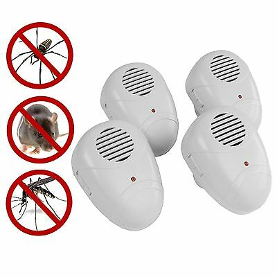 Ultra Sonic Plug In Mice Mouse Rodent Rat Spider Repeller Pest Control 2/4/6/8
