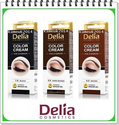 PROMO NEW PROFESSION DELIA HENNA COLOR CREAM EYEBROW TINT KIT DYE Black Brown