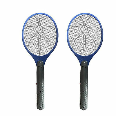 2 x ELECTRIC FLY INSECT SWAT SWATTER BUG MOSQUITO WASP ZAPPER KILLER ELECTRONIC