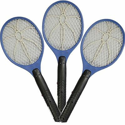 3 x ELECTRIC FLY INSECT SWAT SWATTER BUG MOSQUITO WASP ZAPPER KILLER ELECTRONIC