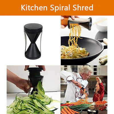 Stainless Spiral Shred Kitchen Vegetable Spiralizer Slicer Fruit Cutter Twister