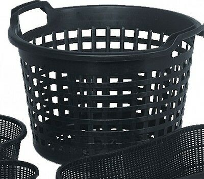 Water Round 40cm Plant Basket for Pond Plants Water Plants Black