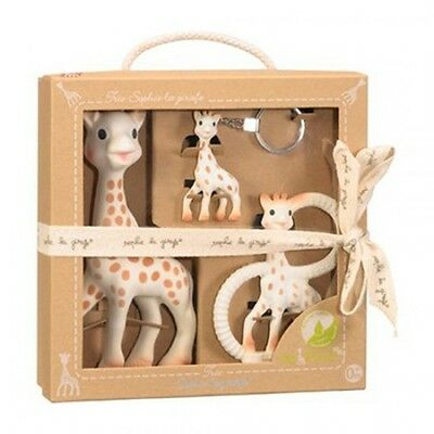 SOPHIE THE GIRAFFE SO PURE TRIO BABY GIFT SET - Vulli - Free Shipping