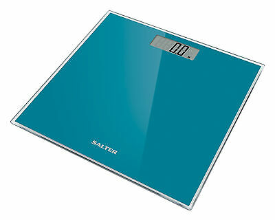 Salter Digital Bathroom Scale Toughened Glass Electronic Weight Scale Teal 180kg