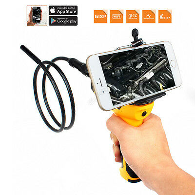 720P HD Wifi 9mm Endoscope Snake Camera Car Inspection Video Cam For Iphone
