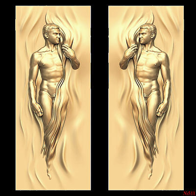 (511) STL Model Door for CNC Router 3D Printer  Artcam Aspire Bas Relief