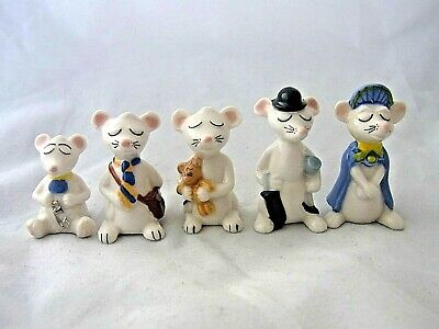 Wade WHIMSIE FULL SET OF TOWN MOUSE FAMILY MICE