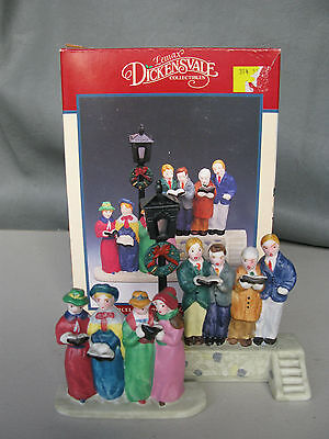 """New Lemax Dickensvale Collectible Porcelain """"carrolling On The Common"""""""