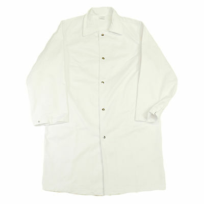 Heavy Duty All-White Butcher Coat