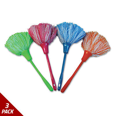 "MicroFeather Mini Duster Microfiber Feathers 11"" Asstd Colors [3 PACK]"