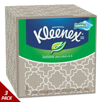 Kleenex Lotion Facial Tissue 2-Ply 75ct [3 PACK]