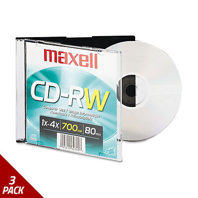 Maxell CD-RW Branded Surface 700MB/80MIN 4x [3 PACK]