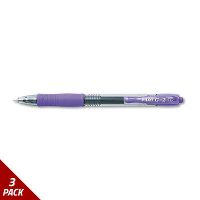 G2 Premium Retractable Gel Ink Pen Refillable Purple Ink .7mm Dozen [3 PACK]