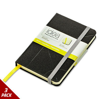 Idea Collective Journal Hard Cover Side Bound 5 1/2x3 1/2 Blk 96 Sheets [3 PACK]