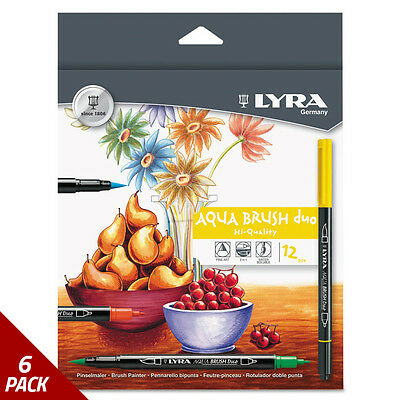 LYRA Dual Tip Marker Assorted 12ct [6 PACK]