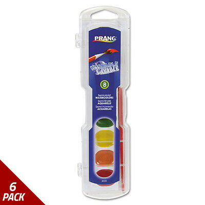 Prang Washable Watercolors 8 Assorted Colors [6 PACK]