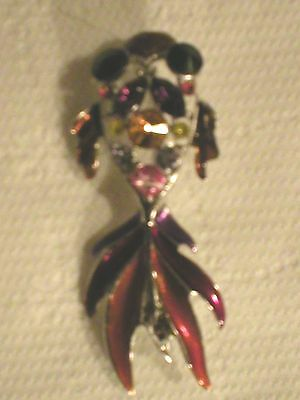 Austrian Crystal Whimsical Goldfish2 Brooch Lead Nickel Free Brand New