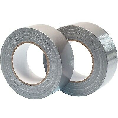"Big Strong Duck Duct Gaffa Gaffer Waterproof Cloth Tape Silver 50mm 2""x50m 2 3 6"