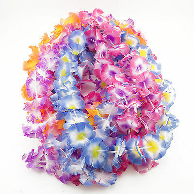 50pc Assorted Necklace Flower Leis Pool Party Luau Beach Moana Decorations LOT