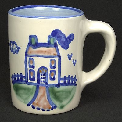 M A Hadley Country Scene Mug Handpainted House