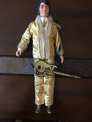 Elvis Presley Doll Vintage 1984 Gold Suit Outfit Complete Was just Displayed