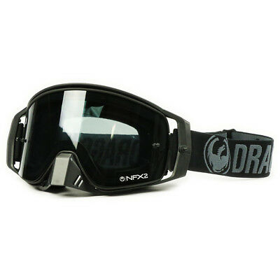Dragon NEW Mx NFX2 Black Smoke Ionized Dark Tinted Motocross Goggles