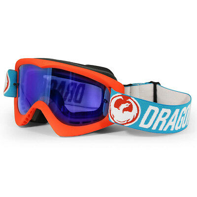 Dragon NEW Mx MDX Flash Orange Blue Steel Ionized Tinted Motocross Goggles