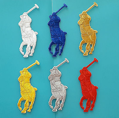 Ecusson (Patch) Brode / Thermocollant / Ralph Lauren / Taille 12 X 5,5 Cm