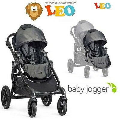 Baby Jogger City Select Double Spacerowy 2w1 - CHARCOAL