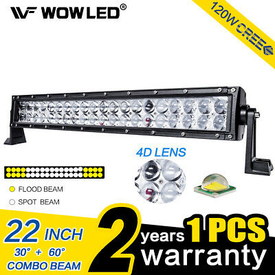 120W 22 Inch 4D CREE 40 LEDs Light bar Spot Flood Combo Driving Offroad Lamp 4X4