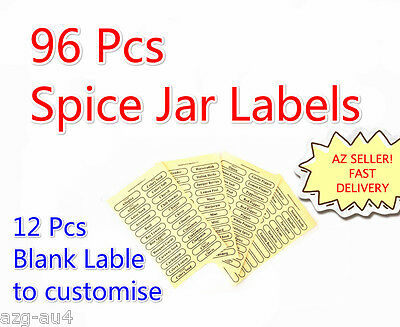 PROMOTION Herb Spice Jars Label 96 PCS Clear Self Adhesive Canisters Jar Label