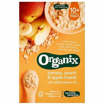 Organix Organic Banana Peach & Apple Muesli 200g (Pack of 4)