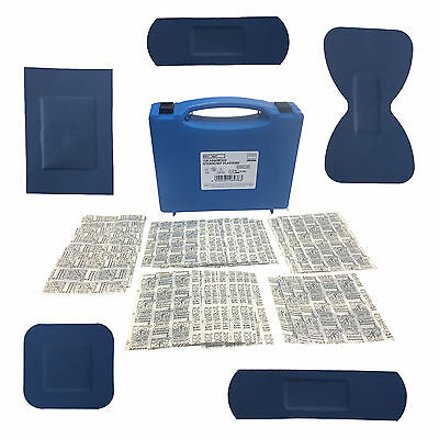 Sterochef Sterile Catering Blue Detectable First Aid 120 Assorted Plasters Cases