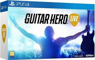 Guitar Hero Live with Guitar Controller PlayStation 4 Play Along Challenge NEW
