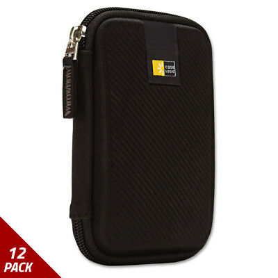 Case Logic Portable Hard Drive Case Molded Eva Black [12 PACK