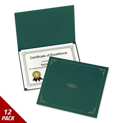 Oxford Certificate Holder 11 1/4 x 8 3/4 Green 5ct [12 PACK