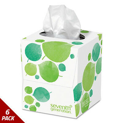 Seventh Generation 100% Recycled Facial Tissue 2-Ply 85ct [6 PACK]