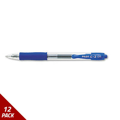 G2 Premium Retractable Gel Ink Pen Refillable Blue Ink .5mm Dozen [12 PACK