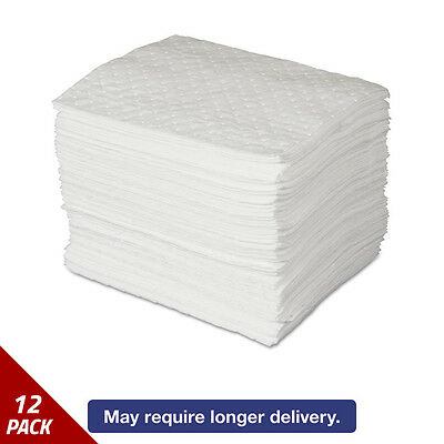 SPC MAXX Enhanced Oil-Only Sorbent Pads .3gal 15w x19l White 100ct [12 PACK