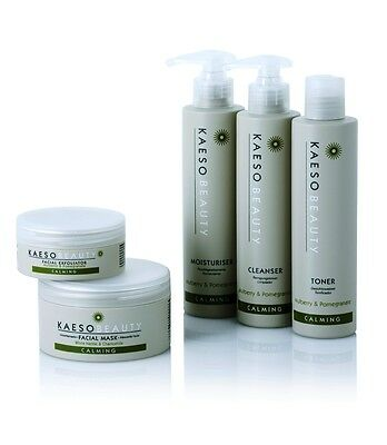 KAESO CALMING cleanser toner moisturiser exfoliator mask kit sensitive skin