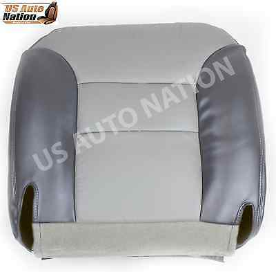 2000 Chevy Tahoe Limited Z71 Driver Side Bottom Vinyl Seat Cover two Tone Gray
