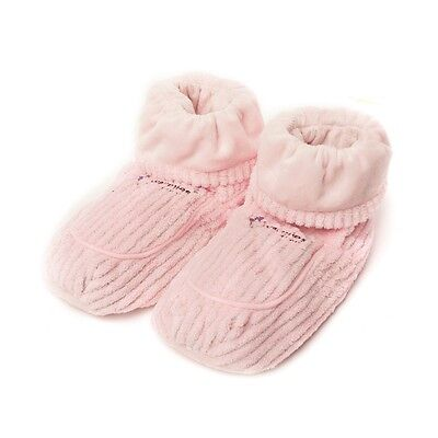 Warmies Wheat Lavender Scented Pink Spa Therapy Microwavable Slipper Boots