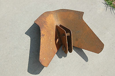 Vintage Rusty steel metal Plow Part Head Coultivator Head Farm Tool