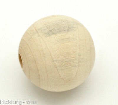 lotto Distanziatori Perle Sfera in Legno Naturale 25mm Dia.