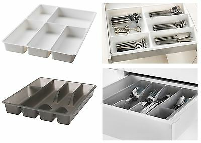 IKEA Standard Quality Plastic Partition Storage Rack Tray Kitchen Cutlery Holder
