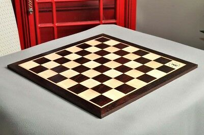"""Indian Rosewood & Maple Wooden Chess Board - 2.25"""" With Logo"""