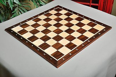 """Indian Rosewood & Maple Wooden Chess Board - 2.25"""" With Notation"""