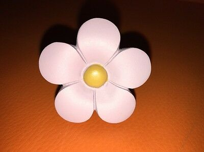 "Daisy Ceramic Drawer Pull (s) Light Purple Yellow 2"" W Screw Knob Handle New"