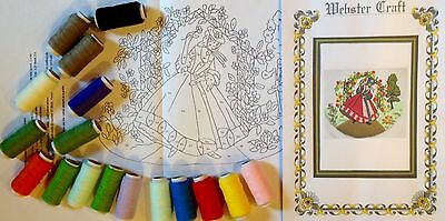 Crinoline Lady Rose Garden Punch Needle Embroidery Kit by Webster Craft